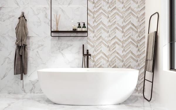 Marmo Bianco   Golden Tile