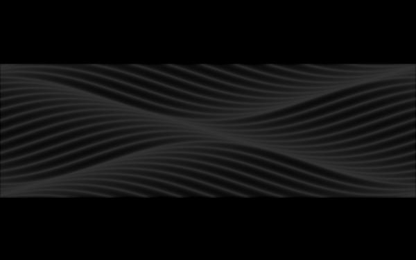 BLACK&WHITE Чорний Рельєфний 25x80