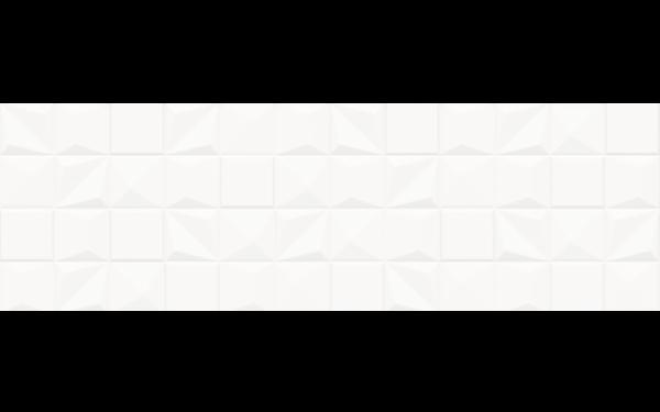 CAMPO Білий Рельєфний 25x80